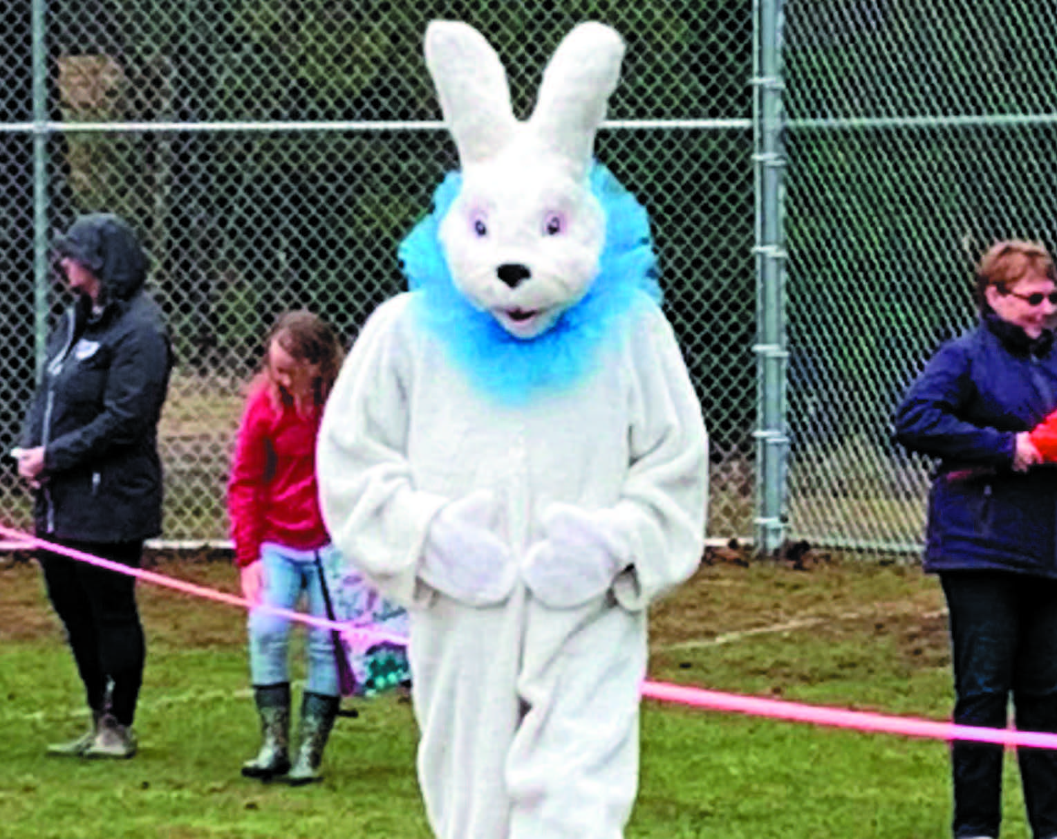 Easter Bunny eagerly awaits his big day.
